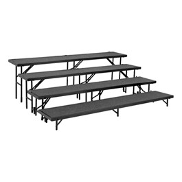 Straight Standing Choral Risers w/ Carpet Deck - Four Level