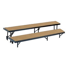 Tapered Standing Choral Risers w/ Hardboard Deck - Two Level