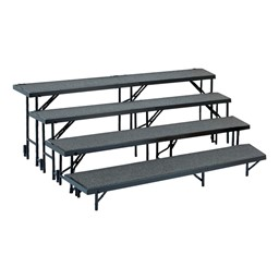 Tapered Standing Choral Risers w/ Carpet Deck - Four Level