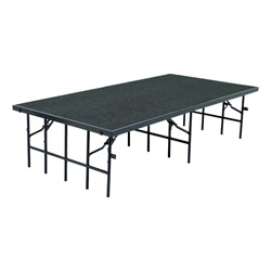 Single-Height Portable Stage & Seated Riser Section w/ Carpet Deck