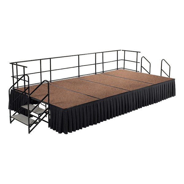 National Public Seating Rectangle Portable Stage Set W Hardboard Deck Accessories At School Outfitters