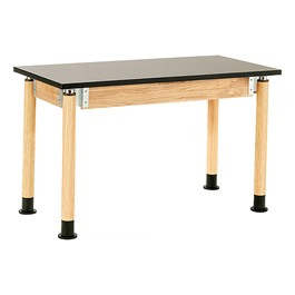 Adjustable-Height Science Table w/ Chem-Resistant Top - Oak