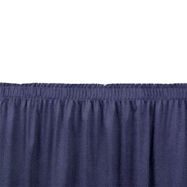 Shirred Pleat Stage Skirting - Navy