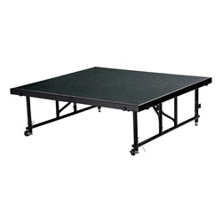 "Transfix Adjustable-Height Portable Stage w/ Carpet Deck (16"" or 24"" H) - Black"