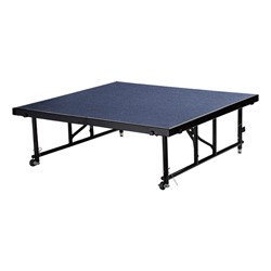 "Transfix Adjustable-Height Portable Stage w/ Carpet Deck (16"" or 24"" H) - Blue"