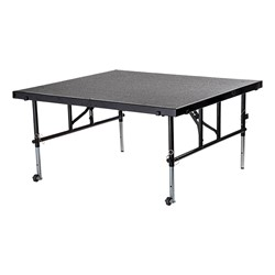 "Transfix Adjustable-Height Portable Stage w/ Hardboard Deck (24"" or 32"" H) - Extended - Shown w/ carpet deck"