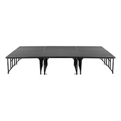 "Transfix Adjustable-Height Portable Stage w/ Hardboard Deck (24"" or 32"" H) - Group - Shown w/ carpet deck"