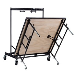 "Transfix Adjustable-Height Portable Stage w/ Hardboard Deck (24"" or 32"" H) - Unfolding"