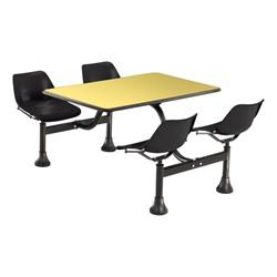 Cluster Seating w/ Laminate Top - Yellow top & black seats
