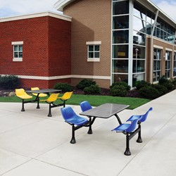 Cluster Cafeteria Seating w/ Stainless Steel Top - Environmental shot