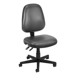 Antimicrobial Vinyl Task Chair - Charcoal