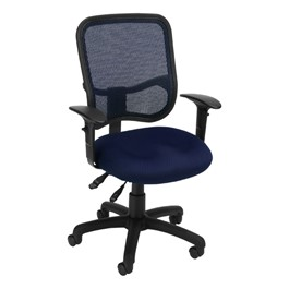 ComfySeat Mesh-Back Posture Task Chair w/ Arm Rests - Navy