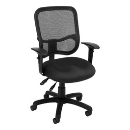 ComfySeat Mesh-Back Posture Task Chair w/ Arm Rests - Black