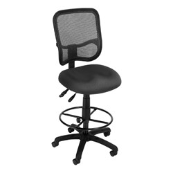 ComfySeat Mesh-Back Posture Drafting Stool w/out Arm Rests - Gray shown