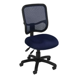 ComfySeat Mesh-Back Posture Task Chair w/ out Arm Rests - Navy