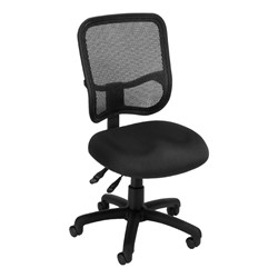 ComfySeat Mesh-Back Posture Task Chair w/ out Arm Rests - Black