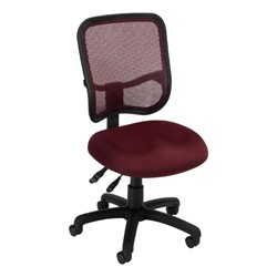 ComfySeat Mesh-Back Posture Task Chair w/ out Arm Rests - Wine