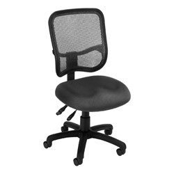 ComfySeat Mesh-Back Posture Task Chair w/ out Arm Rests - Gray