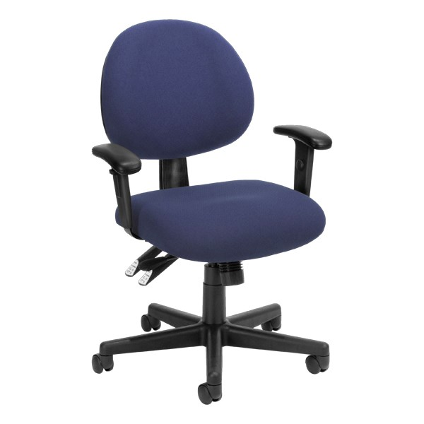 24-Hour Multi-Shift Task Chair w/ Arm Rests - Blue