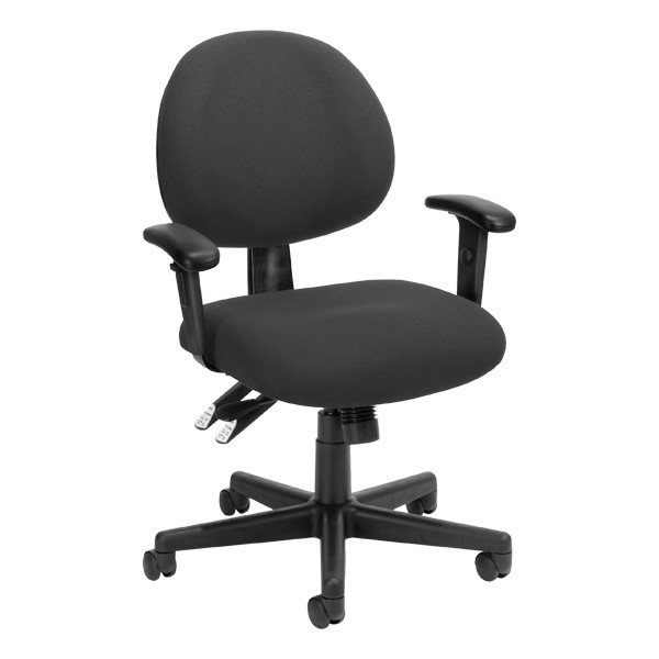 24-Hour Multi-Shift Task Chair w/ Arm Rests - Charcoal