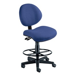 24-Hour Use Drafting Tilt Stool w/out Arm Rests - Blue