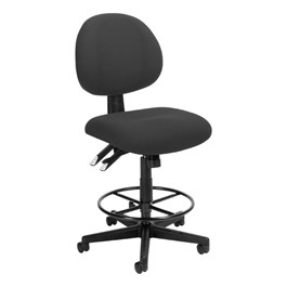 24-Hour Use Drafting Tilt Stool w/out Arm Rests - Charcoal