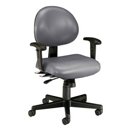 Antimicrobial 24-Hour Use Task Chair w/ Arm Rests - Charcoal