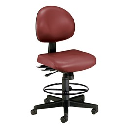 Anti-Microbial 24-Hour Use Drafting Stool w/out Arm Rests - Wine