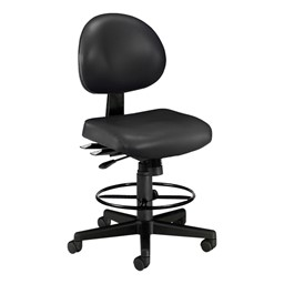 Antimicrobial 24-Hour Use Drafting Stool - Black