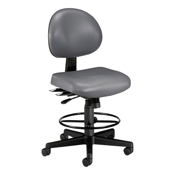 Antimicrobial 24-Hour Use Drafting Stool - Charcoal