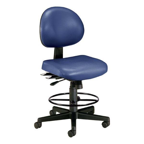 Antimicrobial 24-Hour Use Drafting Stool - Navy