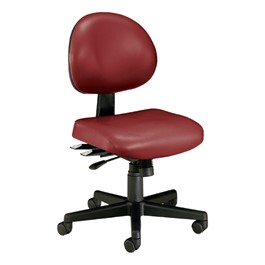 Antimicrobial 24-Hour Use Task Chair w/ out Arm Rests - Wine