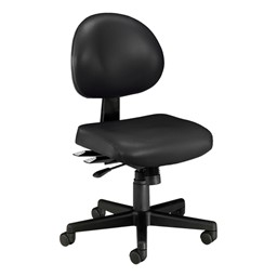 Antimicrobial 24-Hour Use Task Chair w/ out Arm Rests - Black