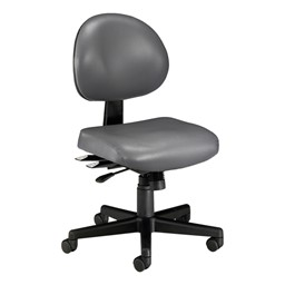 Antimicrobial 24-Hour Use Task Chair w/ out Arm Rests - Charcoal