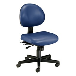 Antimicrobial 24-Hour Use Task Chair w/ out Arm Rests - Navy