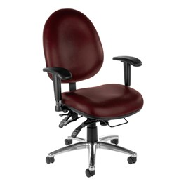 ComfySeat XL Antimicrobial Vinyl Task Chair - Wine