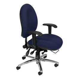 ComfySeat XL Fabric Task Chair - Blue