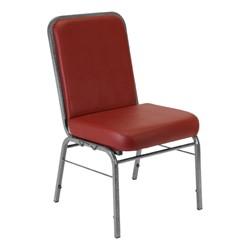 ComfortClass Anti-Microbial Heavy-Duty Vinyl Stack Chair - Wine