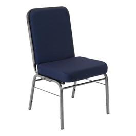 ComfortClass Anti-Microbial Heavy-Duty Vinyl Stack Chair - Navy