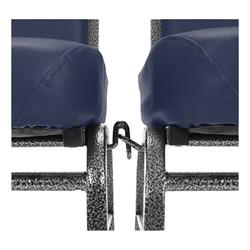 ComfortClass Anti-Microbial Heavy-Duty Vinyl Stack Chair - Ganging Bracket