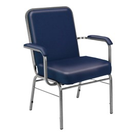 ComfortClass XL Heavy-Duty Anti-Microbial Vinyl Stack Chair - Navy