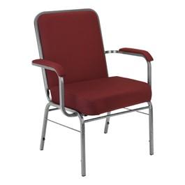 ComfortClass XL Heavy-Duty Fabric Stack Chair - Wine