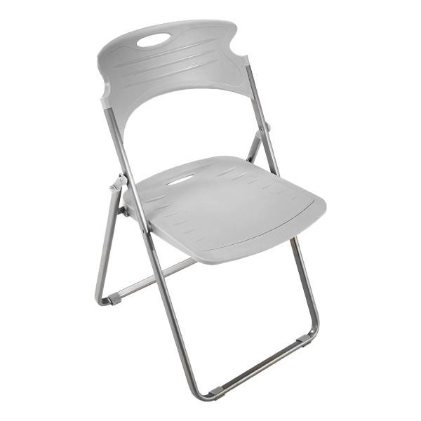 Attractive Heavy Duty Plastic Folding Chair   Dove Gray