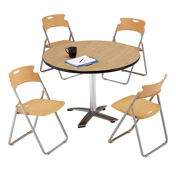 ... Heavy Duty Plastic Folding Chair   Mulitple Units Shown   Table Sold  Separately