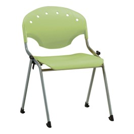 "Lightweight Rico Plastic Stack Chair (17 3/4"" Seat Height) - Lime Green"