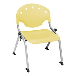 "Lightweight Rico Plastic Stack Chair (17 3/4"" Seat Height) - Lemon Yellow"