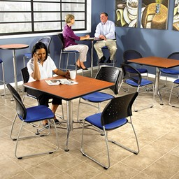 Contemporary Square Café Table - Environmental Shot