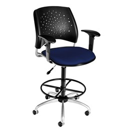Stars Series Swivel Stool - Navy