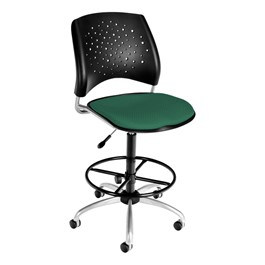 Stars Series Swivel Stool - Shamrock green