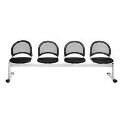 Moon Series Beam Seating - Four Seats w/ out Table - Black